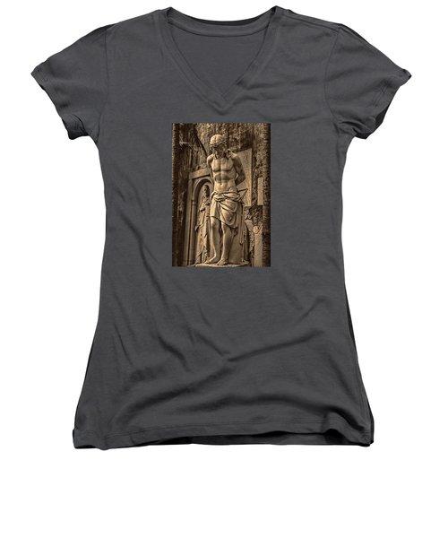 Jesus In Rome Women's V-Neck T-Shirt