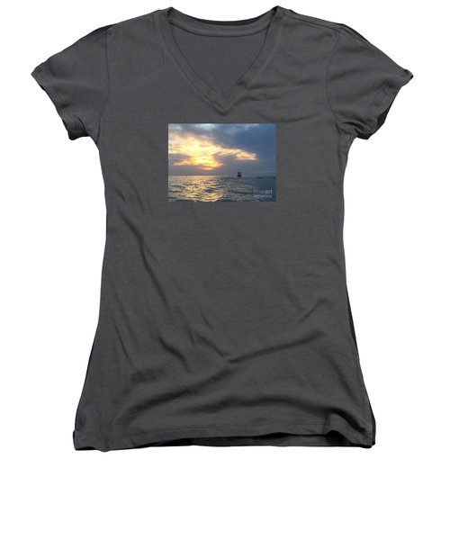 Watching Over The Inlet Women's V-Neck