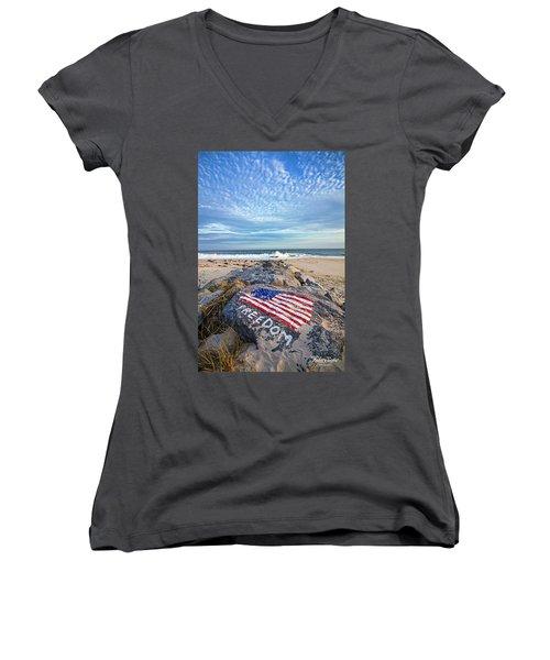 Jetty Four Beach Women's V-Neck T-Shirt