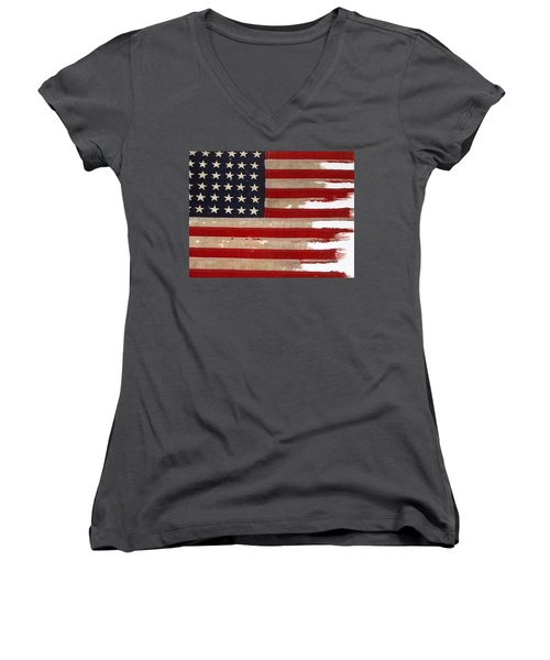 Jfk's Pt-109 Flag Women's V-Neck (Athletic Fit)