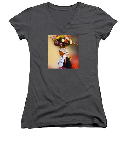 Jidai Matsuri Xxvii Women's V-Neck T-Shirt (Junior Cut) by Cassandra Buckley