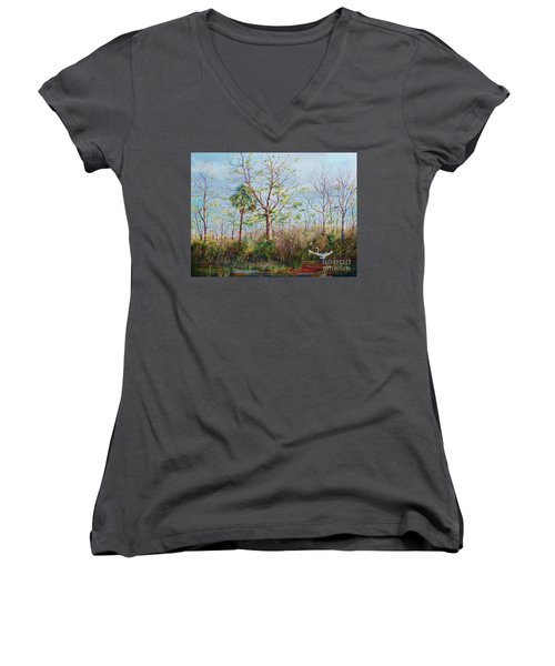 Jim Creek Lift Off Women's V-Neck T-Shirt