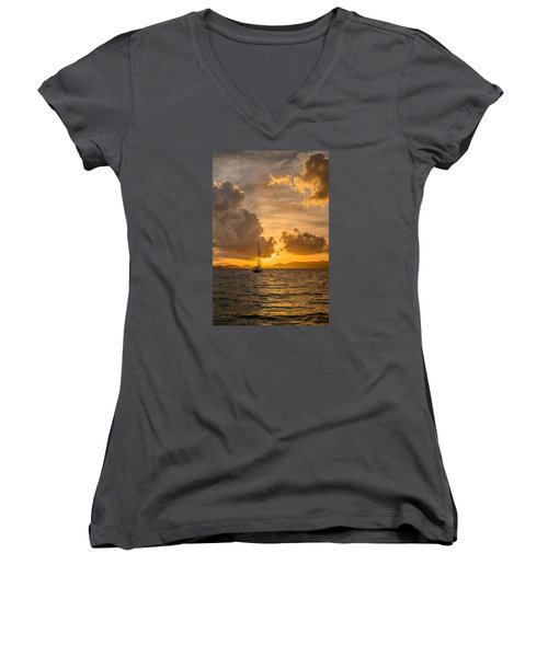 Jimmy Buffet Sunrise Women's V-Neck