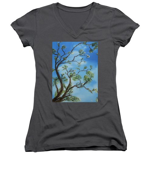 Jim's Tree Women's V-Neck (Athletic Fit)