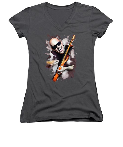 Joe Satriani Women's V-Neck T-Shirt (Junior Cut)