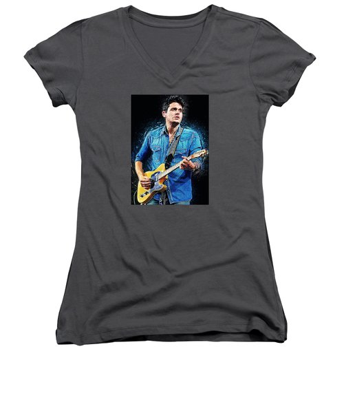 John Mayer Women's V-Neck T-Shirt (Junior Cut)