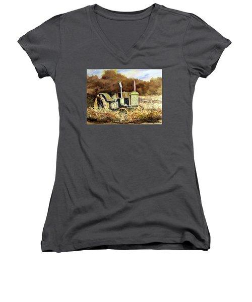Johnny Popper Women's V-Neck T-Shirt (Junior Cut) by Sam Sidders