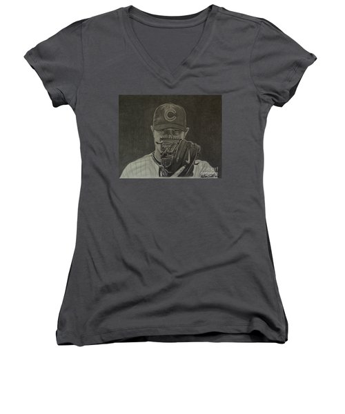 Jon Lester Portrait Women's V-Neck T-Shirt
