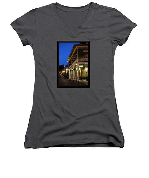 Jonesborough Tennessee 12 Women's V-Neck T-Shirt (Junior Cut) by Steven Lebron Langston
