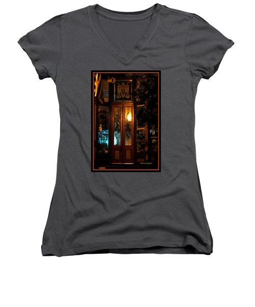Jonesborough Tennessee 14 Women's V-Neck T-Shirt (Junior Cut) by Steven Lebron Langston