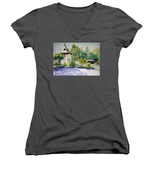 Jose Moya Del Pino Library At Marin Arts And Garden Center Women's V-Neck (Athletic Fit)