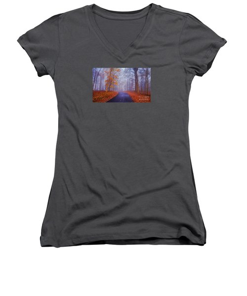 Journey Continues Women's V-Neck T-Shirt