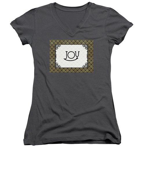 Joy - Art Deco Women's V-Neck