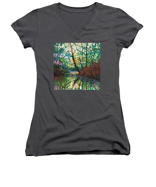 Joyful Morning Women's V-Neck (Athletic Fit)