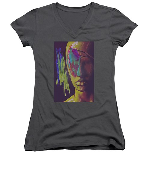 Judgement Figurative Abstract Women's V-Neck