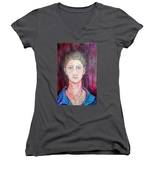 Julie Self Portrait Women's V-Neck (Athletic Fit)