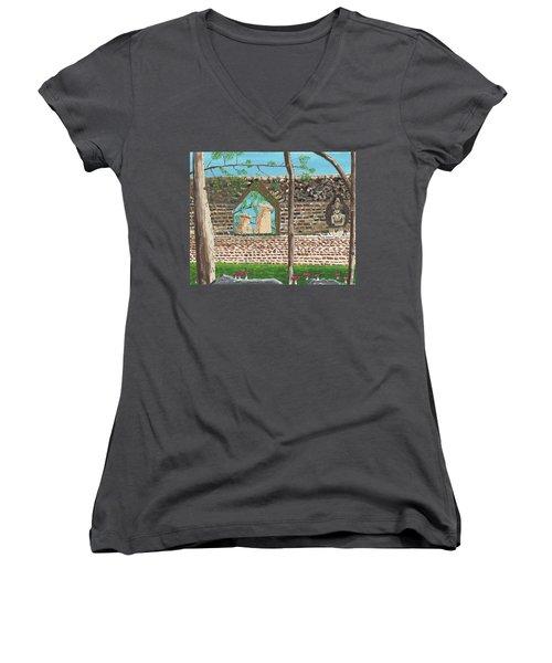 July  Portal Of Enlightenment Women's V-Neck T-Shirt