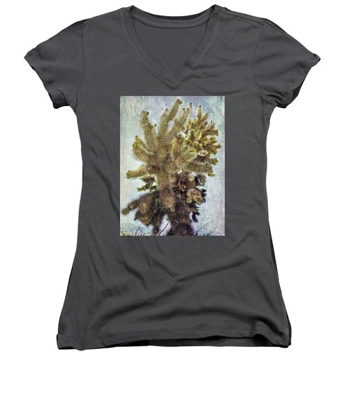 Jumping Cholla Women's V-Neck