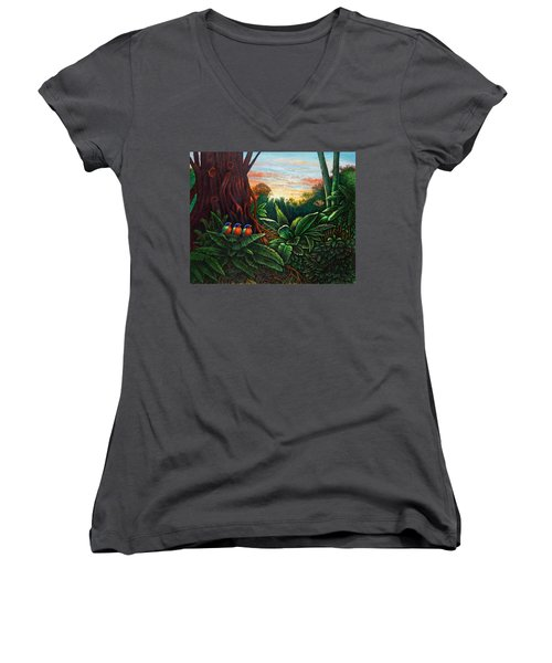 Jungle Harmony 3 Women's V-Neck (Athletic Fit)