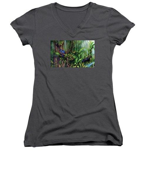 Jungle Talk Women's V-Neck