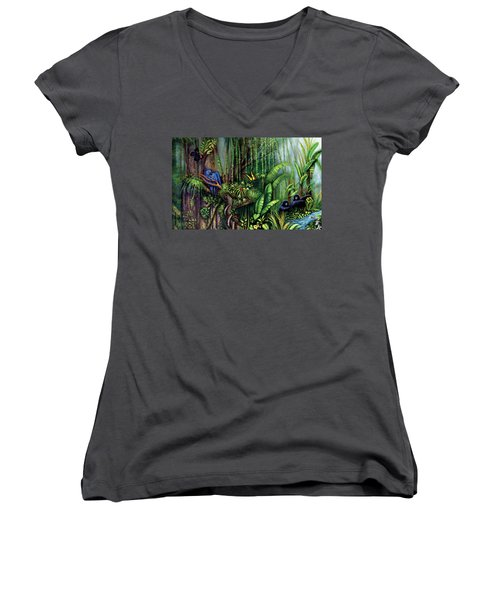 Jungle Talk Women's V-Neck (Athletic Fit)