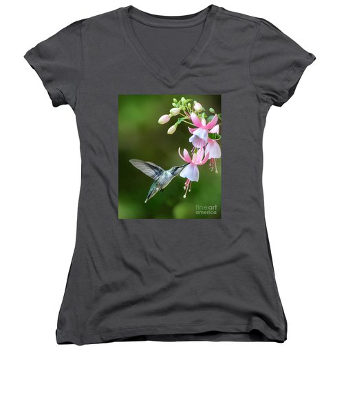 Just A Sip Women's V-Neck T-Shirt (Junior Cut) by Amy Porter