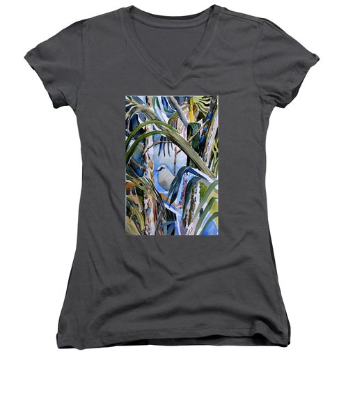 Just Being Women's V-Neck T-Shirt (Junior Cut) by Mindy Newman
