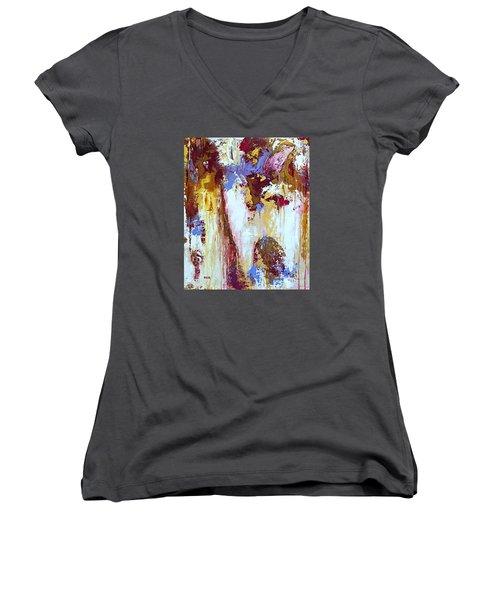 Just Breathe Women's V-Neck T-Shirt (Junior Cut)