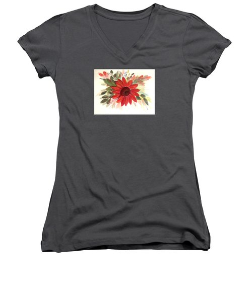 Just For You Women's V-Neck T-Shirt (Junior Cut) by Dorothy Maier
