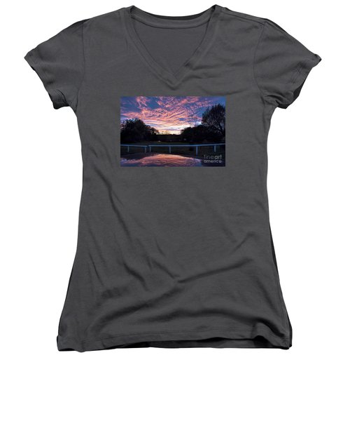 Just Had To Stop Women's V-Neck T-Shirt (Junior Cut) by David  Hollingworth