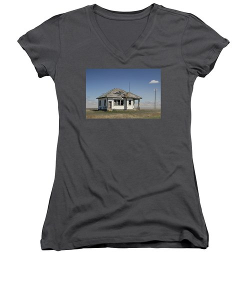 Just Plain Lonely Women's V-Neck T-Shirt (Junior Cut) by Christopher McKenzie
