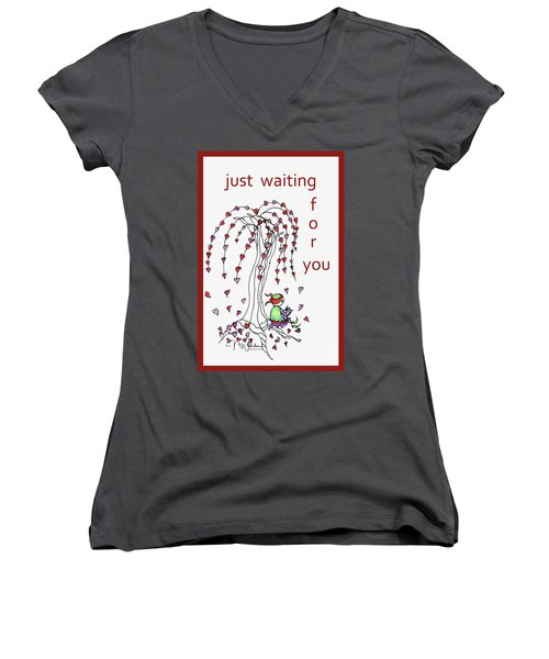 Just Waiting For You Women's V-Neck (Athletic Fit)