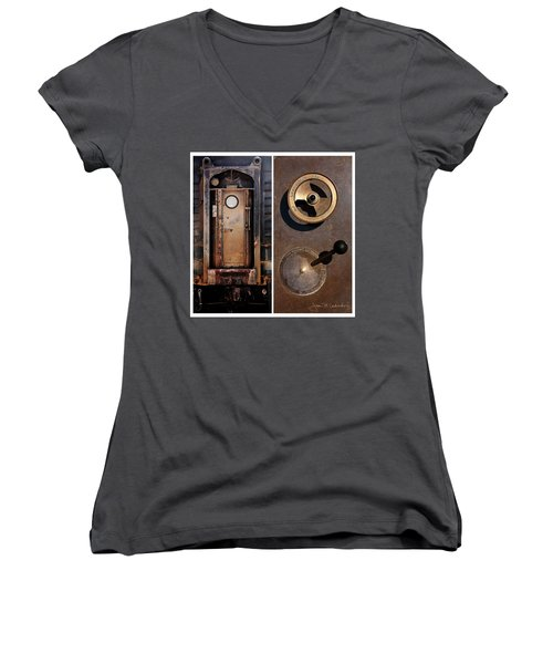 Juxtae #24 Women's V-Neck T-Shirt (Junior Cut)