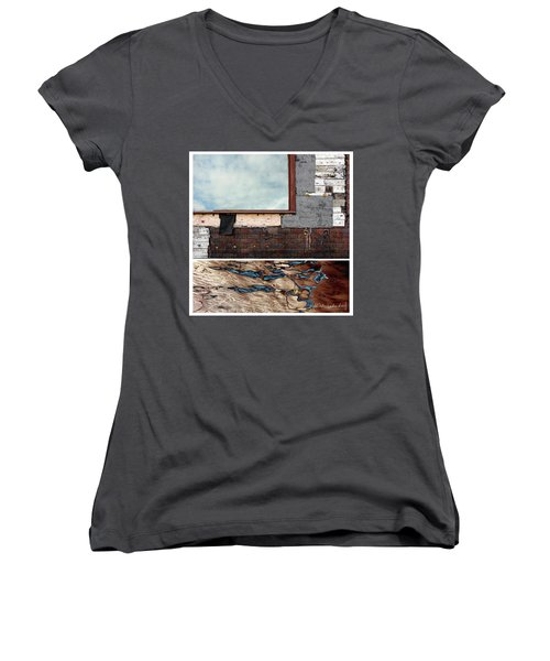 Juxtae #94 Women's V-Neck T-Shirt (Junior Cut)
