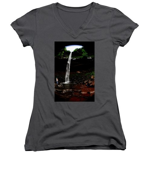 Kaaterskill Falls Women's V-Neck (Athletic Fit)