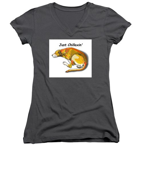 Kai Chillaxin' Women's V-Neck T-Shirt