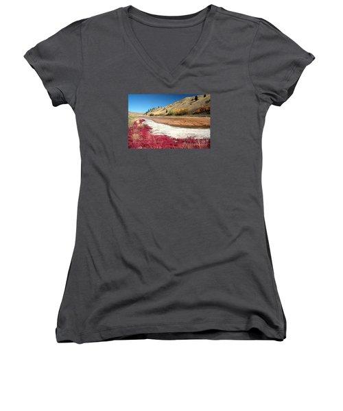 Kamloops Autumn Women's V-Neck T-Shirt