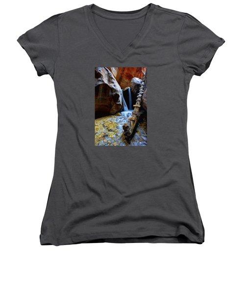 Kanarra Women's V-Neck T-Shirt (Junior Cut) by Chad Dutson