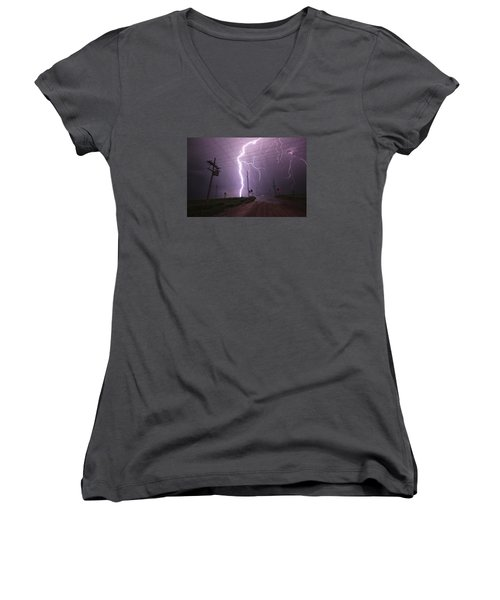 Kansas Lightning Women's V-Neck (Athletic Fit)