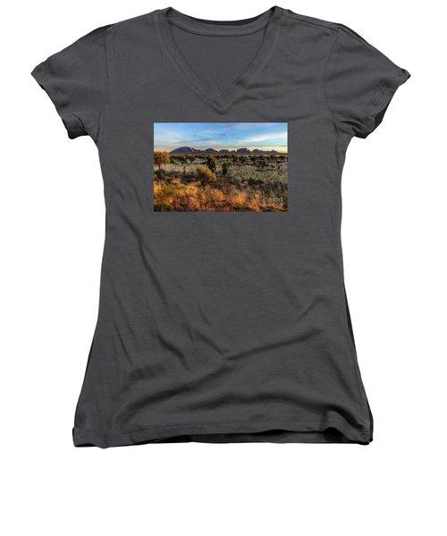 Women's V-Neck T-Shirt featuring the photograph Kata Tjuta 02 by Werner Padarin