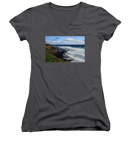Kauai Shore 1 Women's V-Neck T-Shirt