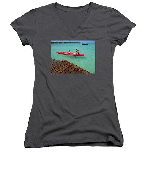 Kayaking Perfection 1 Women's V-Neck