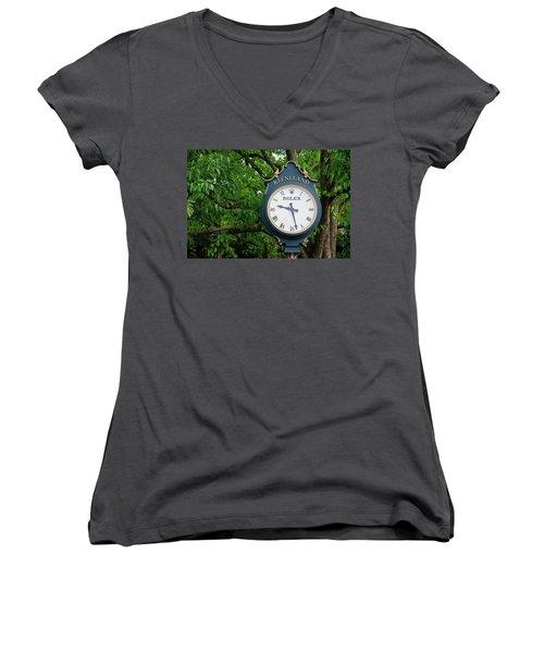 Keeneland Clock Women's V-Neck