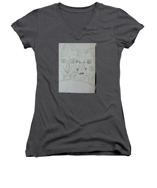 Keeper Of Secrets Women's V-Neck T-Shirt (Junior Cut)