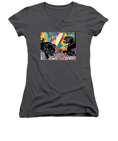 Keeping Themselves Occupied Women's V-Neck (Athletic Fit)