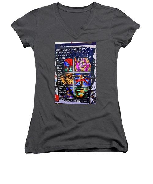 Keith Haring  Women's V-Neck