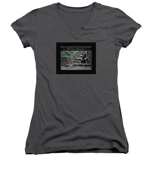 Kellie Peach 12-246 Women's V-Neck T-Shirt (Junior Cut) by David Miller