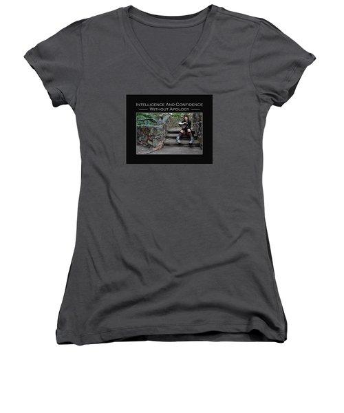 Kellie Peach 13-246 Women's V-Neck T-Shirt