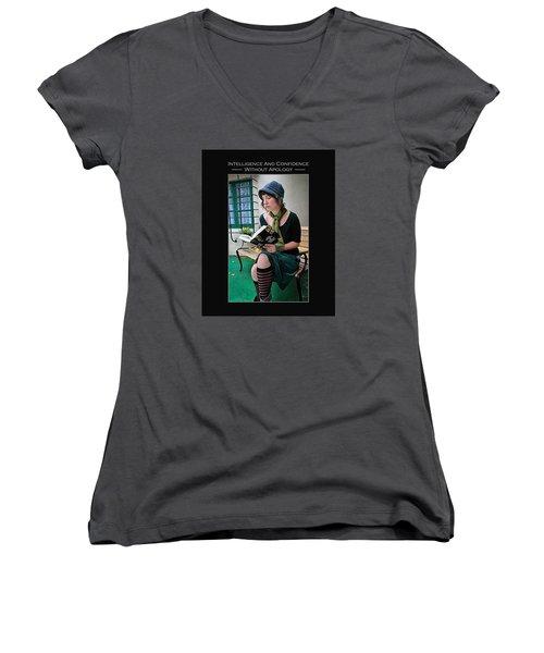 Kellie Peach 5-69 Women's V-Neck T-Shirt