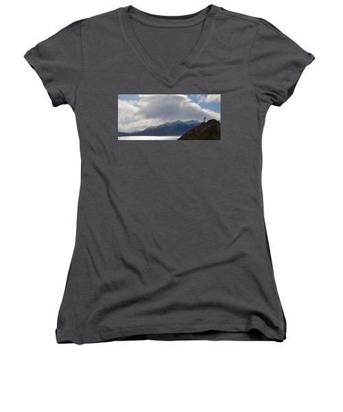 Kenai Peninsula Women's V-Neck T-Shirt